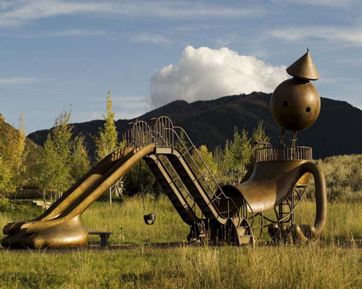Playground, a Tom Otterness sculpture cum anthropomorphic architecture, ...