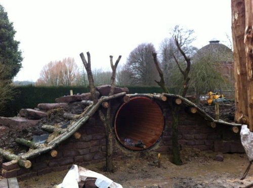 Hobbit Hole Under Construction