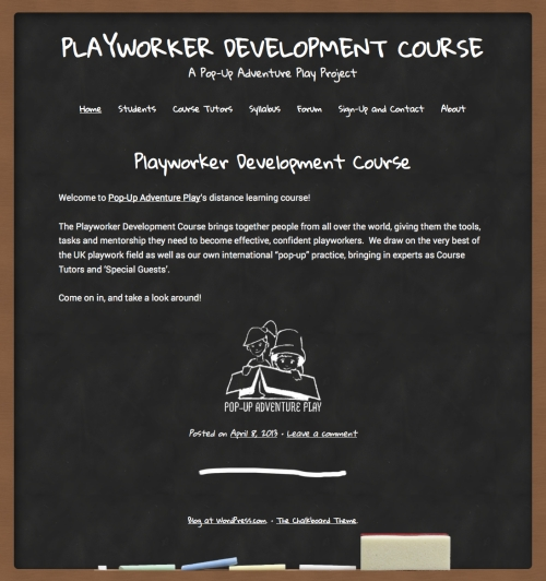 Playworker course