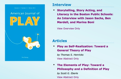 American Journal of Play - Winter 2014