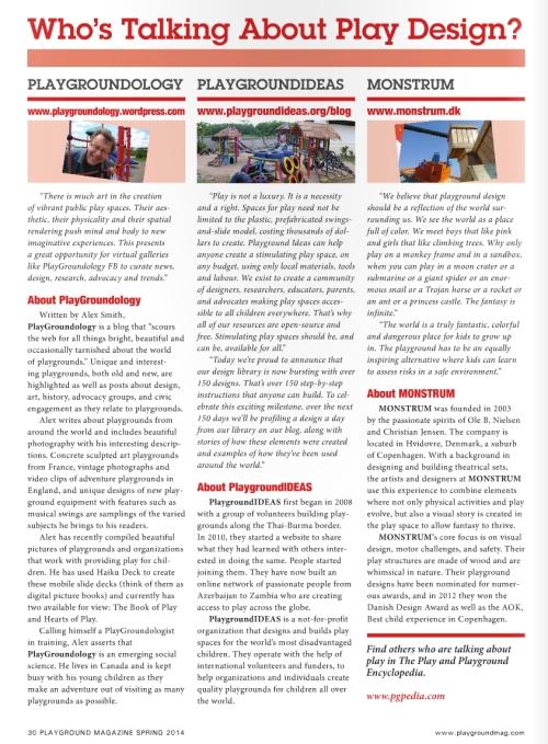 Playground Magazine - Spring 2014