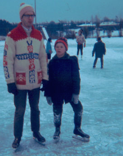 Dad and Me skating