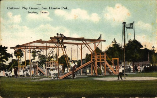 Children's playground - City Park, Houston, Texas - 1909