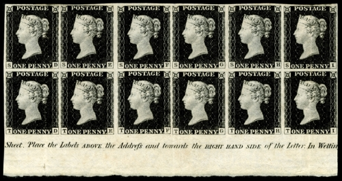 England's Penny Black - the world's first postage stamp